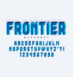 Futuristic original rounded condensed alphabet vector
