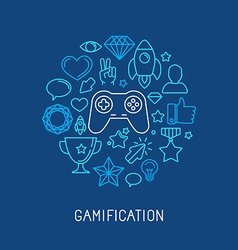 Gamification concepts vector