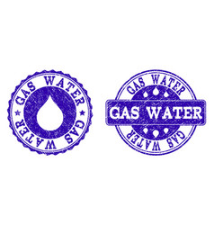 gas water grunge stamp seals vector image
