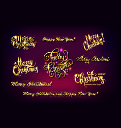 gold lettering design set vector image