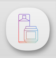 Hairspray and styling gel app icon hairstyling vector