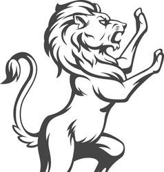 Heraldic Lion Standing vector image
