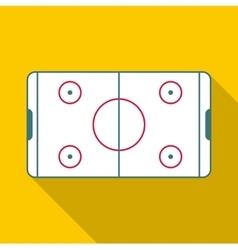Ice hockey rink icon flat style vector