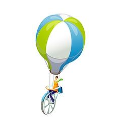 Icon hot air balloon vector