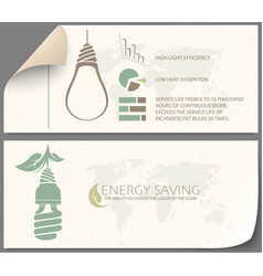 infographic of incandescent light bulb and energy vector image
