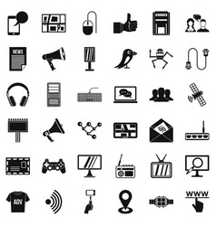 information icons set simple style vector image