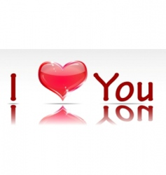 Inscription i love you vector
