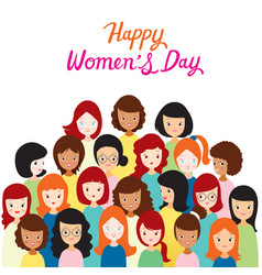 International womens day group of women with vector