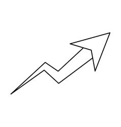 Isolated increase arrow design vector