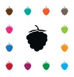 isolated raspberry icon razz element can vector image