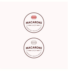 macarons bakery and dessert shop logo sign set vector image