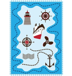 Marine Sailing and Sea Icons Icon Set vector image