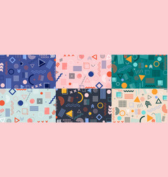 memphis geometric pattern hipster background vector image