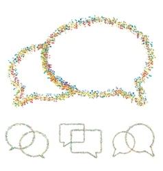 modern musical bubble speech set vector image