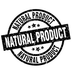 natural product round grunge black stamp vector image