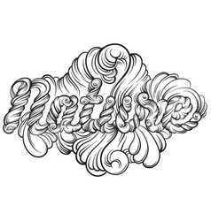 Nature unique artwork with hand drawn lettering vector