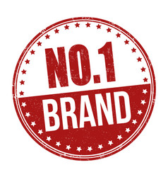 No 1 brand sign or stamp vector