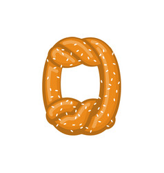 Number 0 pretzel snack font zero symbol food vector
