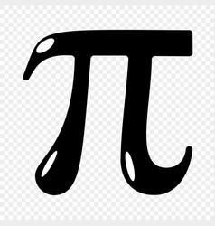 Pi symbol icon vector