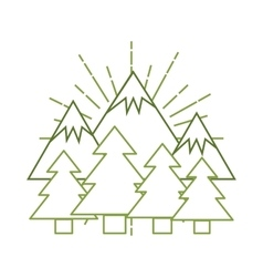 Pine and mountains vector