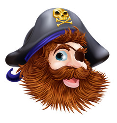 pirate face vector image