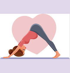pregnant woman in prenatal yoga pose vector image