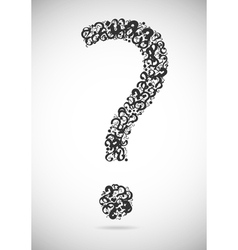 Question mark consisting of question marks vector