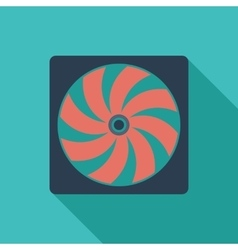 Radiator fan flat icon vector image