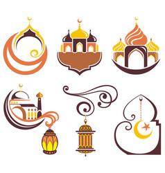 Ramadan kareem icons vector