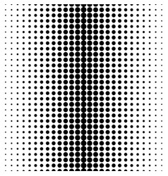 Seamless pattern halftone transition with circles vector