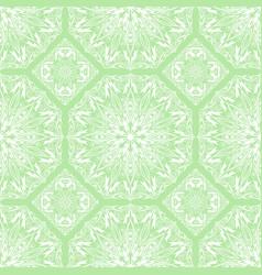 Seamless pattern of round white mandala vector