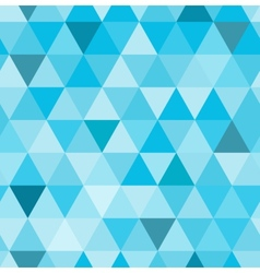 seamless retro pattern geometric shapes blue vector image