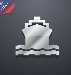 ship icon symbol 3D style Trendy modern design vector image