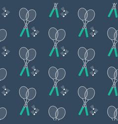 shuttlecock seamless pattern vector image