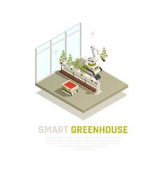 Smart greenhouse concept vector