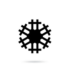 snowflake flat icon isolated vector image