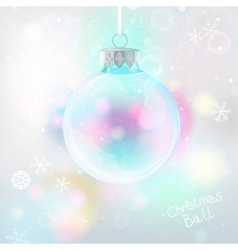 Snowflakes light ball background vector image