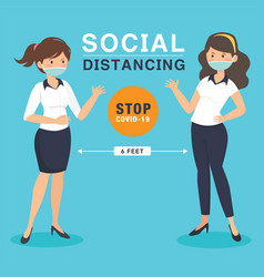 social distancing keep your distance vector image