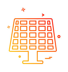 solar panel icon design vector image