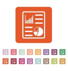 The business report icon Audit and analysis vector image