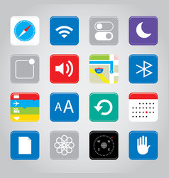 touchscreen smart phone mobile app icon vector image