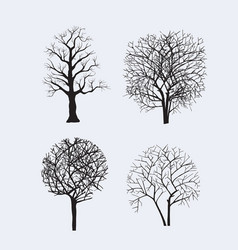 tree silhouettes for design vector image