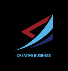 triangle business logo vector image