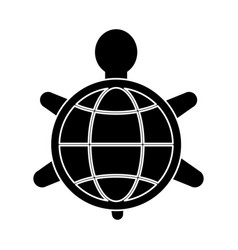 turtle animal symbol vector image