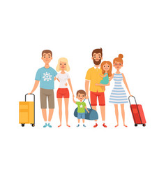 vacation with friends families with children vector image
