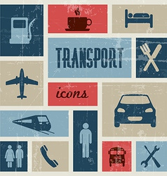 Vintage transport traffic poster vector