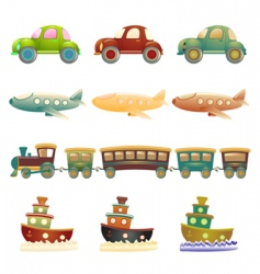 cartoon vehicles vector image vector image