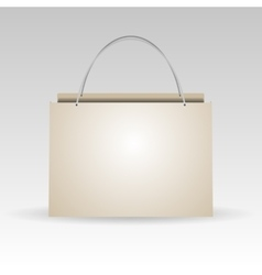Empty plastic or paper shopping bag on white vector image vector image