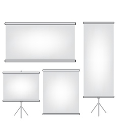 Projector screen and roll up banner vector image vector image