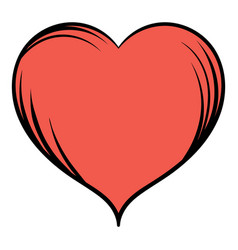 red heart icon cartoon vector image vector image